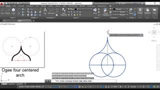 Draw Ogee Gothic four centered arch
