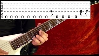 Guitar Lesson - BLACK SABBATH - Symptom of the Universe - With Printable Tabs