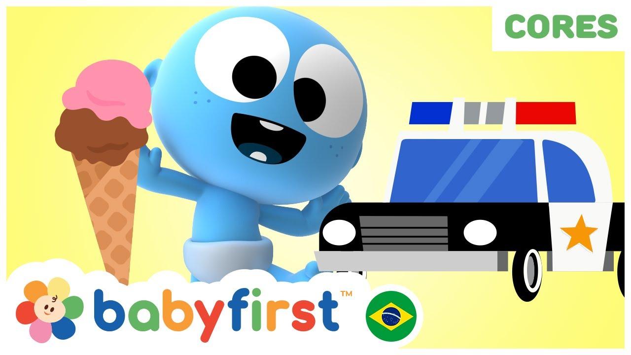 Desenhos Animados para Bebês em Português | Aprenda cores com sorvete e Googoo | BabyFirst Brasil