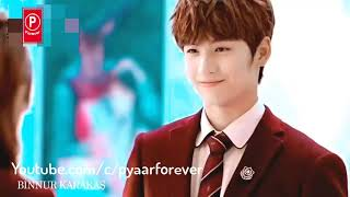 Cute College Love Story   First Crush Love ♥    Korean Mix Hindi Songs