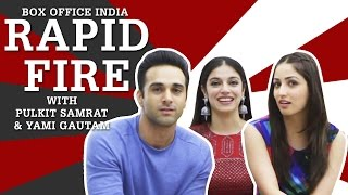 Sanam Re   Pulkit Samrat & Yami Gautam   Rapid Fire   Box Office India