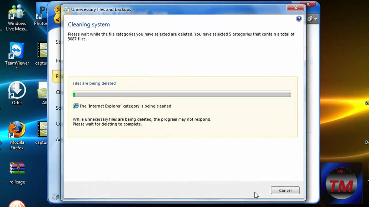 how to clear up space on windows xp