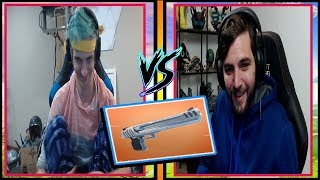 Ninja and RealKraftyy Wipe The Floor With Deagle Hand Cannon! Fortnite Funny and Fail Moments