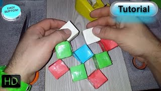 How to make origami paper moving cubes - tutorial-