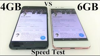 huawei P10 Plus 6GB RAM vs 4GB RAM - SPEED TEST