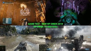 NEW HP OMEN 15-dh0105tx RTX 2060!! GAME TEST PEFORMANCE (2019))