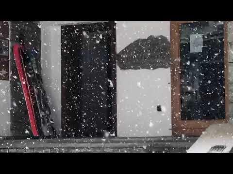CERVINIA, forte nevicata in atto