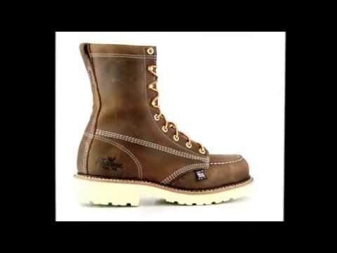dc5b4b13710 Men's Thorogood 804-4378 Steel Toe Work Boot USA - YouTube