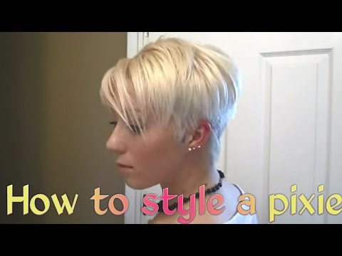 Hairstyle Youtube Tutorial : Blonde Pixie Hairstyle Tutorial - YouTube