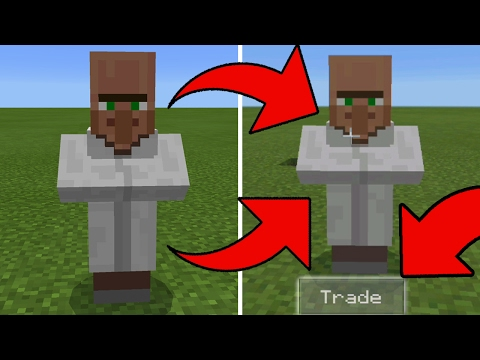 New 1.0.4 Beta - How to Trade Villagers in Minecraft Pocket Edition!!!