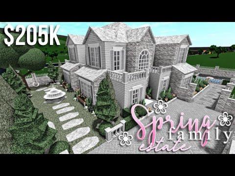 spring-family-estate-|-bloxburg-house-build-|-gamingwithv