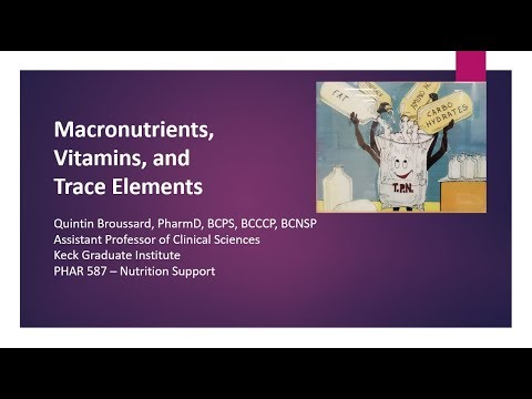 Macronutrients, Vitamins, and Trace Elements Lecture Spring 2019 v2.0 01-28-19