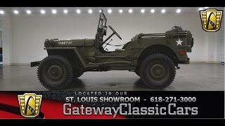 1945 Willys MB Jeep #6829 - Gateway Classic Cars of St. Louis