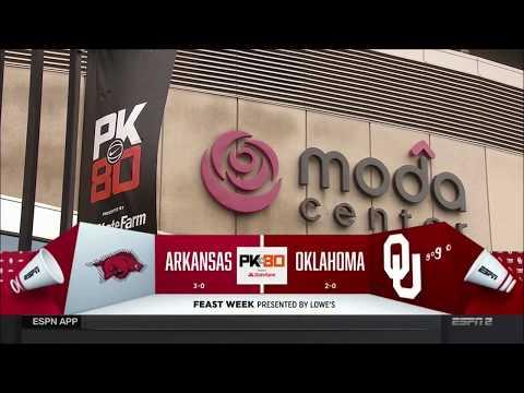 Arkansas vs. Oklahoma 11/23/2017