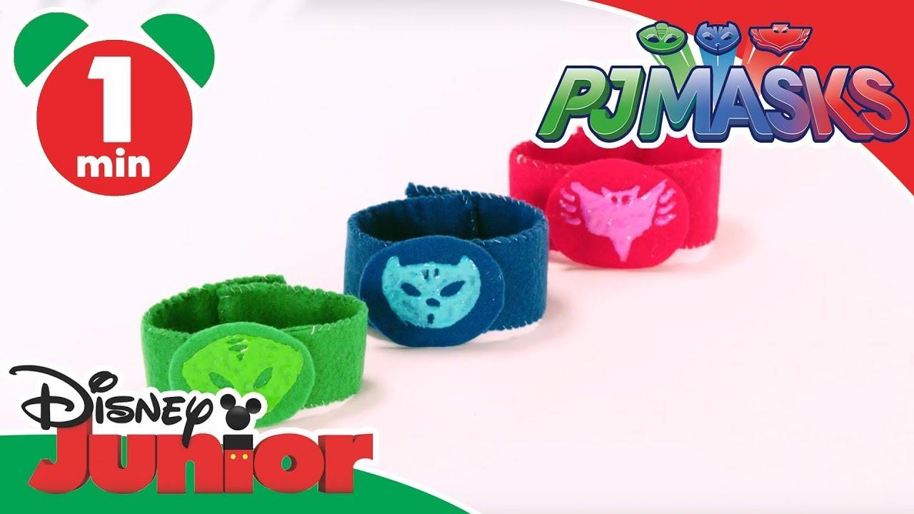 Pj masks craft tutorial superhero wristbands disney for Watch create and craft tv online