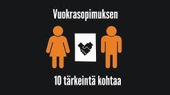 Vuokrasopimuksen 10 tärkeintä kohtaa