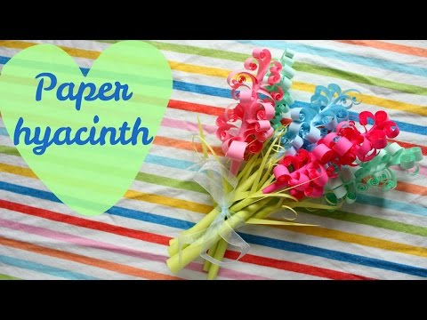 DIY Paper Hyacinth flowers