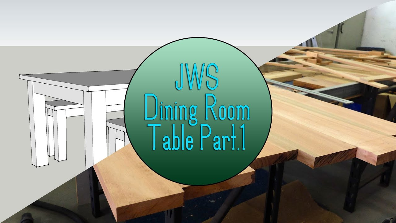 Build A Dining Room Table Set Part 1 The Top Youtube
