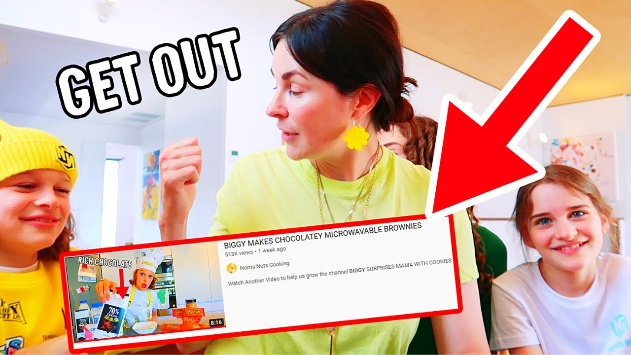 Download BIGGY'S IN TROUBLE FROM MAMA FOR THROWING OUT THE BUTTER - Mama Reacting to Biggy's Cooking Brownies
