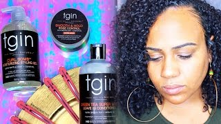 VLOG: tgin Curl Bomb Review x Working Out with Natural Hair