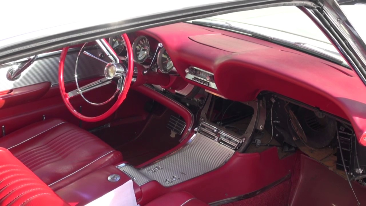 Vintage Thunderbird Dash Removal For Heater Core Repair By