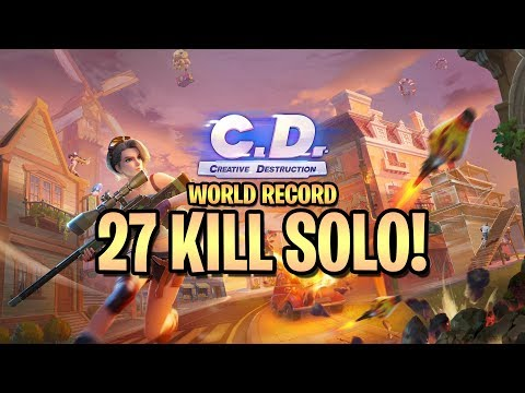 27 Kill Solo World Record (Creative Destruction)
