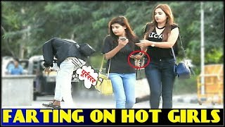Farting On HOT GIRLS prank in JAIPUR !! wet fart prank !! 3 JOKERS- PRANKS KE USTAD