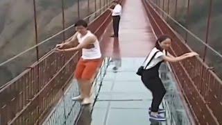 'Мост храбрых мужчин' - стеклянный мост в Китае