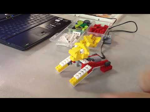 Standing Lion and Merry Go Round at Summer Robotics Camp