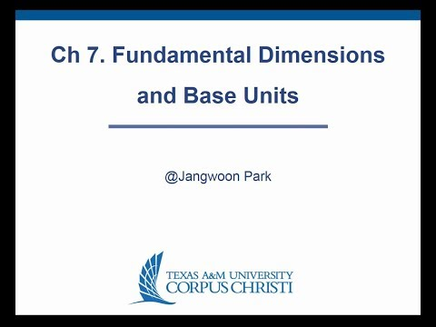Ch 7  Fundamental Dimensions and Base Units   Fall of 2017