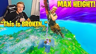 Tfue Shows/Explains NEW Max Height Trick using Floating Island! - Fortnite Funny Moments
