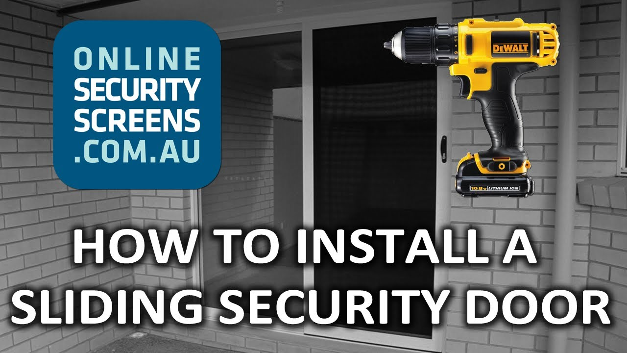 How To Install A Sliding Security Door Onlinesecurityscreens