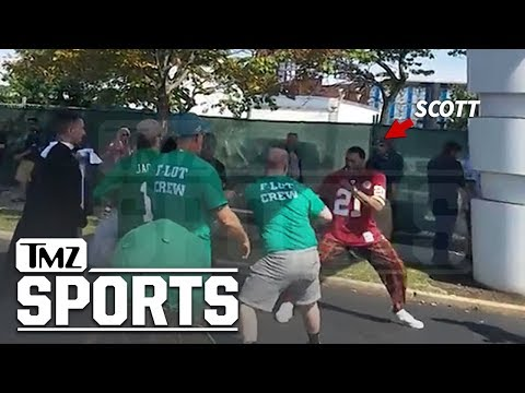 Frankie Darcell - Philly Football Fans Brawl with 76ers Redskins Fan