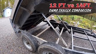 14FT vs 12FT Dump Trailer Comparison