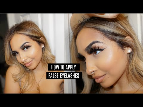 How To Apply False Lashes For Beginners! thumbnail