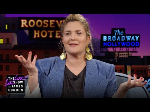 James Corden vs. Drew Barrymore Would Like A Word With Her Younger Self