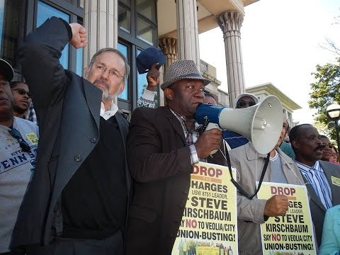 Sept. 15, 2014 Rally at Courthouse following Kirschbaum hearing