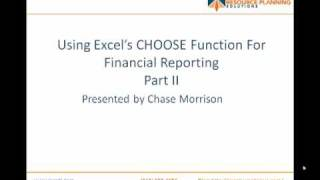 Financial Reporting Tricks With Excel's CHOOSE Function  (2 of 2)