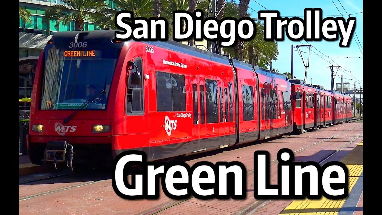 san diego trolley green line youtube. Black Bedroom Furniture Sets. Home Design Ideas