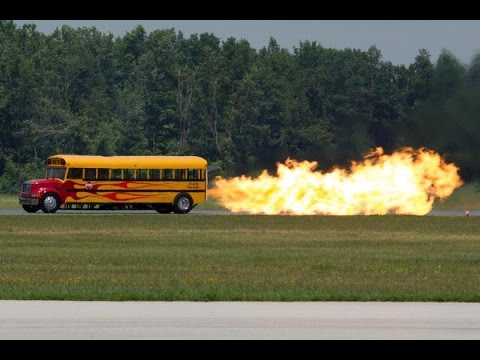 School Time! Jet Propelled School Bus Goes 367 MPH