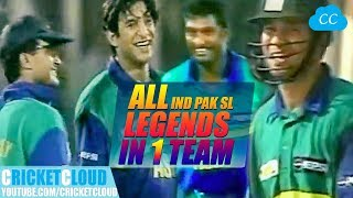 vuclip India PAK SL Legends in One Team | Asia vs Rest of World | Extraordinary Thriller Match !!