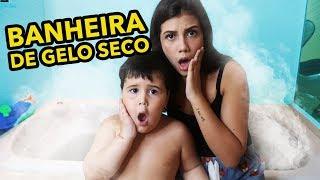 BANHEIRA DE GELO SECO!! *DEU RUIM*