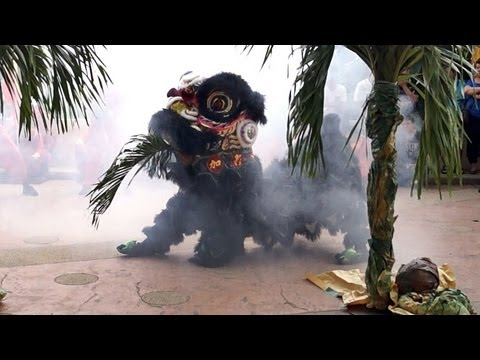 2013 Lion Dance Competition 加影育华龙狮团 2013年傳統舞獅比賽