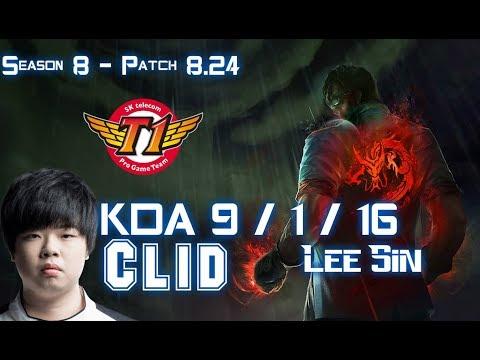 SKT T1 Clid LEE SIN vs RENGAR Jungle - Patch 8.24 KR Ranked