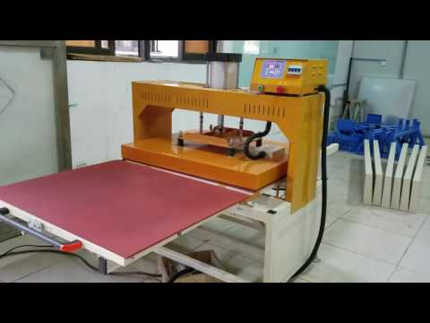 full automatic large heat transfer printing machine working videos