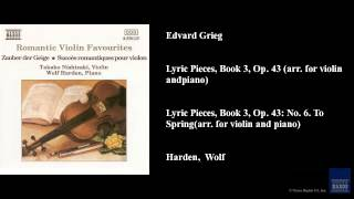 Play Lyric Pieces, Book 2, Op. 38 No. 1. Berceuse (Arr. For Violin And Piano) (Jeno Jando)