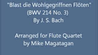 """Aria: """"Blast die Wohlgegriffnen Flöten"""" (BWV 214 No. 3) for Flute Quartet"""