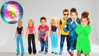 Masha Play Dress Up and MakeUp Toys Disco for kids