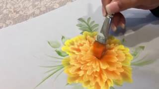 How to Paint Marigolds