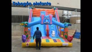 Toboganes hinchables infantiles, modelo elefante